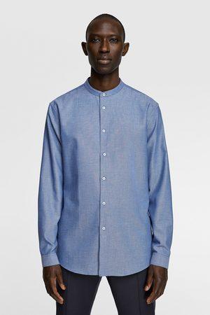 Zara Heren Hemden - Tweekleurig overhemd met structuur