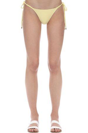 Peony Dames Strings - Banana String Ribbed Bikini Bottoms