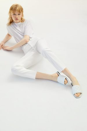 Zara Gewatteerde platte sandalen