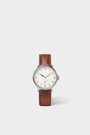 Zara Heren Horloges - Horloge in vintage look met bruin leren bandje