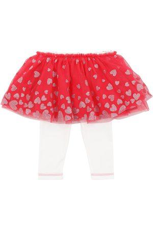 Billieblush Glittered Tulle Skirt & Jersey Leggings