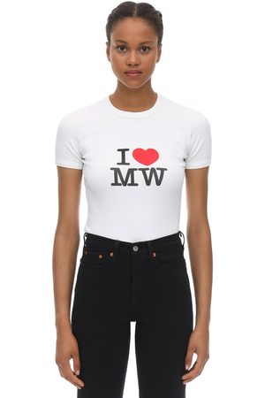 Vetements Dames T-shirts - Fitted Cotton Jersey T-shirt