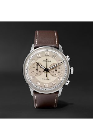 Junghans Meister Driver Chronoscope 40mm Stainless Steel And Leather Watch