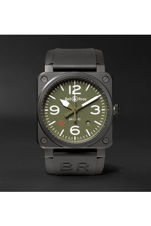 Bell & Ross Br 03-92 Military Type 42mm Ceramic And Rubber Watch, Ref. No. Br0392‐mil-ce