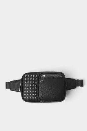 Zara Zwarte schoudertas met studs