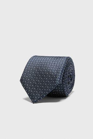 Zara Brede jacquard stropdas met ruiten
