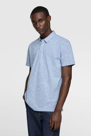 Zara Heren Poloshirts - Polo met bloemenprint