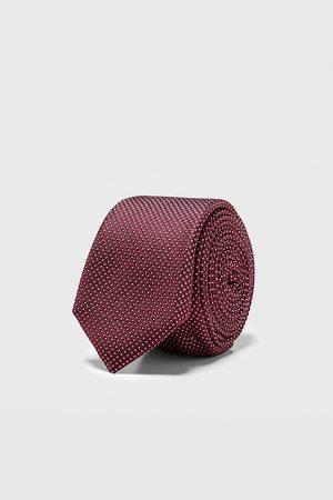 Zara Smalle stropdas met geometrisch jacquard