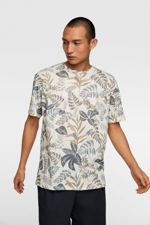 Zara Heren T-shirts - T-shirt met bloemenprint