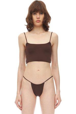 AEXAE Strap Lycra Bikini Crop Top