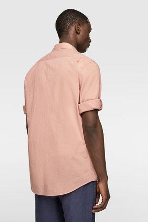 Zara Heren Hemden - Overhemd in relaxed fit met mouwophouders