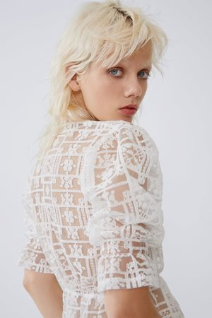 Zara Tule t-shirt met borduursel