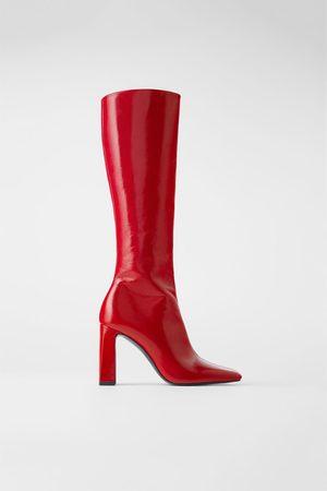 Zara Lakleren laarzen met hak