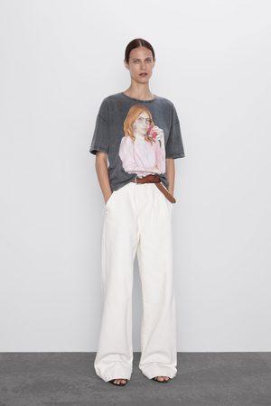 Zara T-shirt met ® coca-cola print
