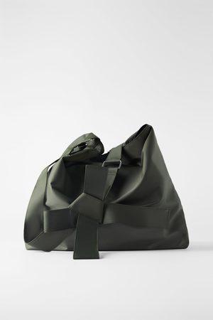 Zara Extra grote buideltas xxl van technische stof