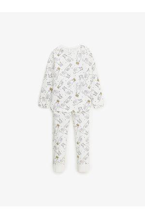 Zara Pyjama met poesjes en glanzende motieven