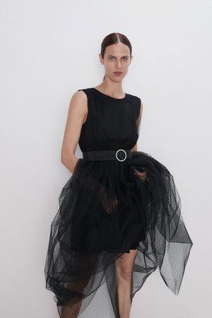 Zara Midi-jurk met tule en plumetis