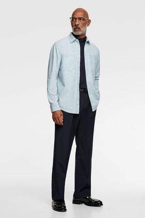 Zara Denim overhemd met chambray
