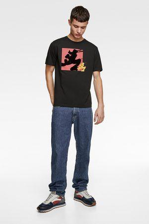 Zara T-shirt met contrasterende ©disney-print