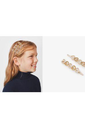 Zara Set van twee haarspeldjes met glanzende hartjes