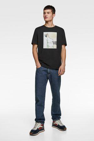 Zara T-shirt met illustratie © gruau collection