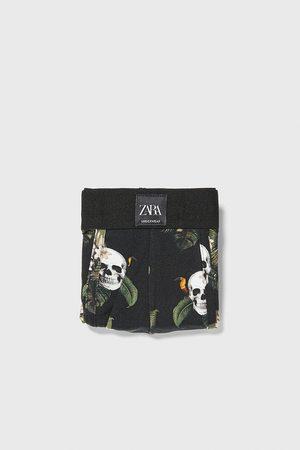 Zara Boxershort met doodshoofdenprint