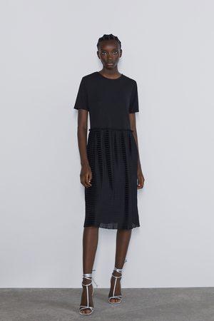 Zara Combi-jurk met plissé