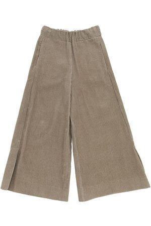 Unlabel Meisjes Wijde broeken - Flared Cotton Velvet Pants