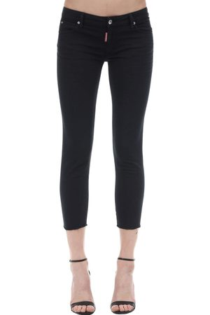 Dsquared2 Medium Waist Crop Twiggy Denim Jeans