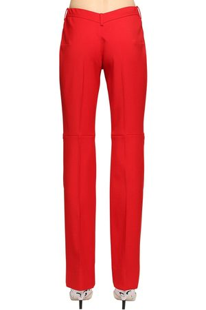 Marine Serre Tessilbiella V-shaped Back Wool Pants