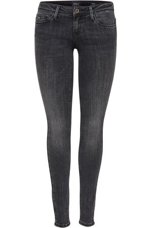 Only Onlcoral Super Low Skinny Jeans Dames Grijs