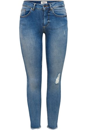 Only Onlblush Ankle Skinny Jeans Dames Blauw