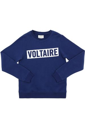 Zadig & Voltaire Printed Logo Cotton Blend Sweatshirt