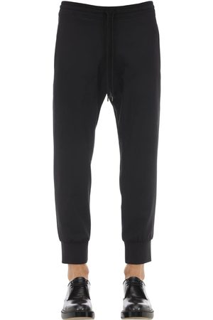 Neil Barrett Wool Blend Gabardine Jogging Pants