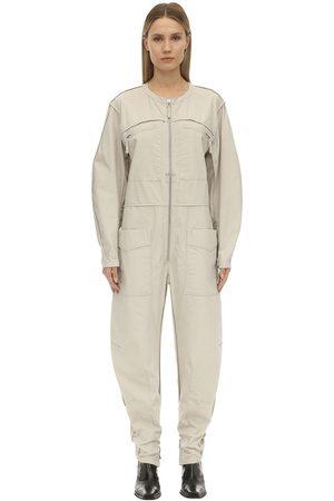 Isabel Marant Dames Jumpsuits - Leiko Cotton Canvas Jumpsuit