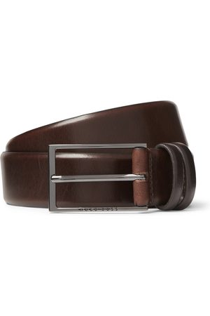 HUGO BOSS Heren Riemen - 3.5cm Black Carmello Leather Belt