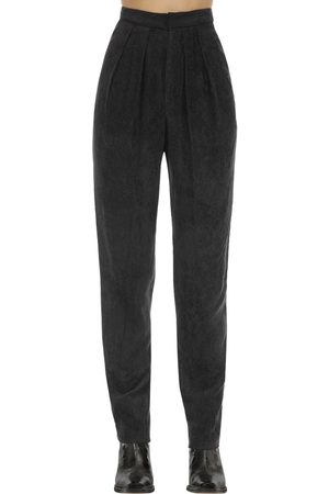 Isabel Marant Fany Viscose Velvet Trousers