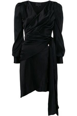 Philipp Plein Asymmetric hem wrap dress