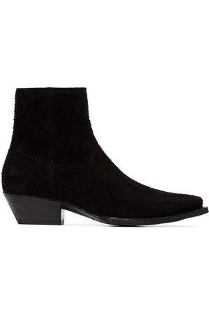 Saint Laurent Lukas 40 suede cowboy ankle boots