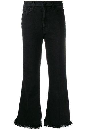 J Brand Distressed flared jeans