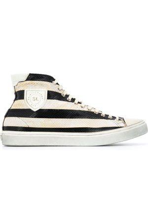 Saint Laurent Bedford striped sneakers