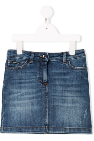Dolce & Gabbana Faded denim mini skirt
