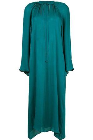 Voz Long-sleeve flared dress