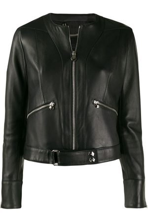 Philipp Plein Zipped biker jacket