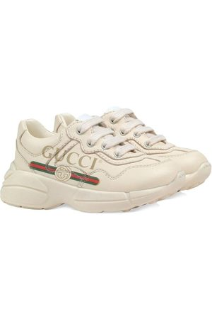 Gucci Toddler Gucci logo leather sneakers