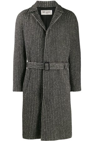 Saint Laurent Belted wool overcoat