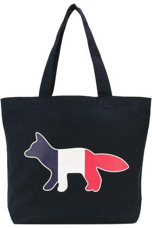 Maison Kitsuné Logo embroidered tote bag