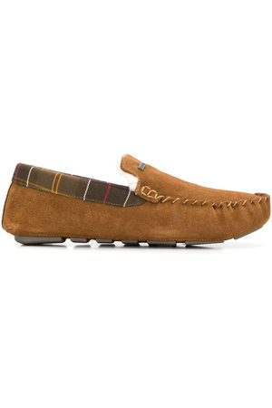 Barbour Faux-shearling lined slippers