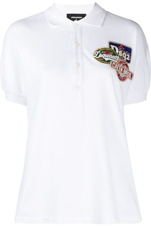 Dsquared2 Embellished logo patch polo shirt