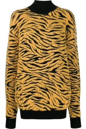 Kwaidan Editions Knitted tiger rollneck jumper